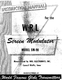 Servicio y Manual del usuario WRL SM-90