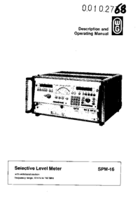 User Manual Wandelgoltermann SPM-16
