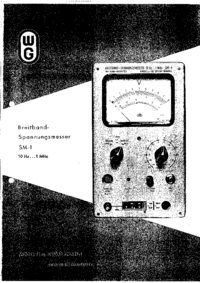 User Manual Wandelgoltermann SM-1