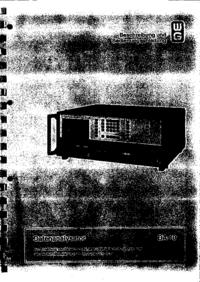 Bedienungsanleitung Wandelgoltermann DA-10