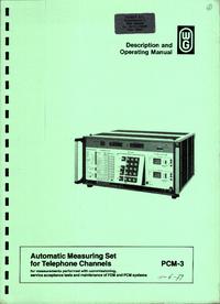 Manual do Usuário Wandelgoltermann PCM-3