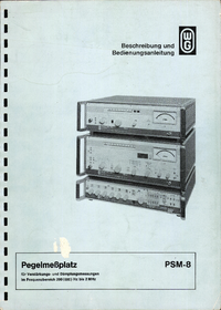 Manuale d'uso Wandelgoltermann PSM-8