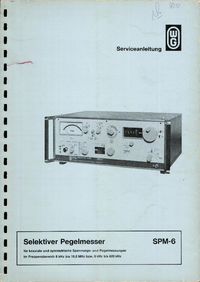 Manual del usuario Wandelgoltermann SPM-6