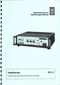 Manuale d'uso Wandelgoltermann PS-12