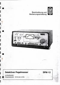 User Manual Wandelgoltermann SPM-12