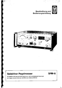 Service and User Manual Wandelgoltermann SPM-6