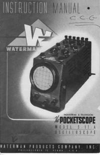 Servicio y Manual del usuario Waterman S-11A