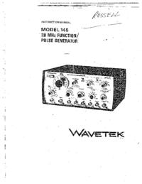 Manual do Usuário Wavetek 145