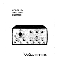 Serwis i User Manual Wavetek 184