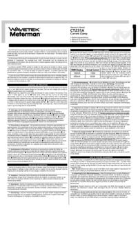 Manual do Usuário Wavetek CT231A