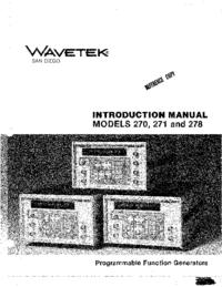 Instrukcja obsługi Wavetek 270