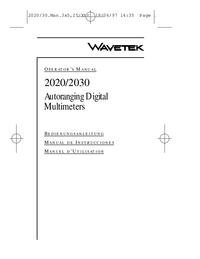 Bedienungsanleitung Wavetek 2020