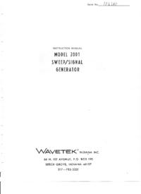 Service and User Manual Wavetek 2001