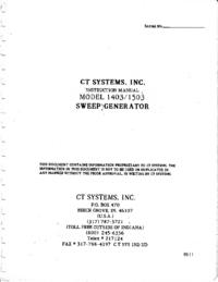Service and User Manual Wavetek 1503