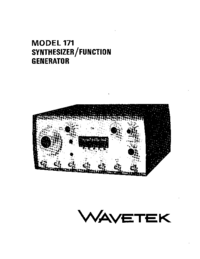 Servicio y Manual del usuario Wavetek 171