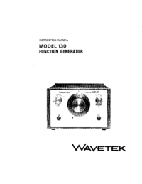 Serwis i User Manual Wavetek 130