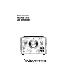 Servicio y Manual del usuario Wavetek 131A