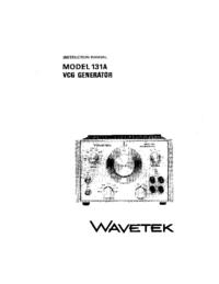 Service and User Manual Wavetek 131A