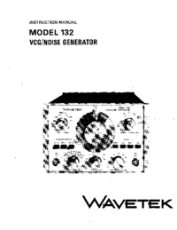 Servicio y Manual del usuario Wavetek 132