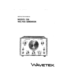 Service Manual Wavetek 136