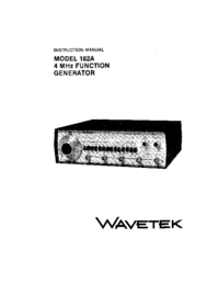 Serwis i User Manual Wavetek 182A