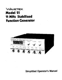 Manual del usuario Wavetek 21