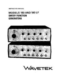 Servicio y Manual del usuario Wavetek 180 LF