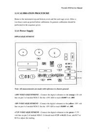 manuel de réparation Wavetek 3510