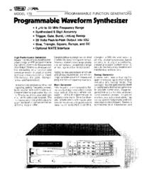 folha de dados Wavetek 178