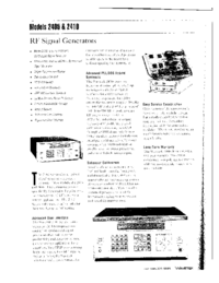 Datenblatt Wavetek 2405