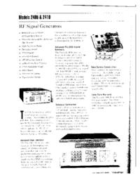 Dane techniczne Wavetek 2410