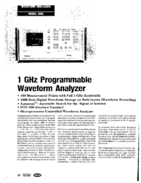 Datenblatt Wavetek 3000