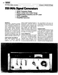 Dane techniczne Wavetek 3002