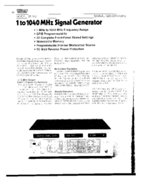 Wavetek-6385-Manual-Page-1-Picture