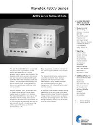 Datenblatt Wavetek 4200S Series