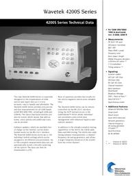folha de dados Wavetek 4200S Series
