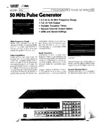 Datasheet Wavetek 859