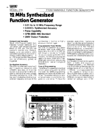 Wavetek-6398-Manual-Page-1-Picture
