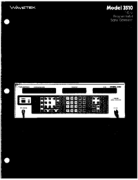 Wavetek-6403-Manual-Page-1-Picture