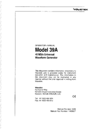 Wavetek-6407-Manual-Page-1-Picture