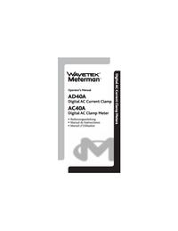 User Manual Wavetek AC40A