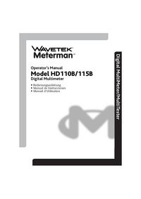 Manual del usuario Wavetek HD110B