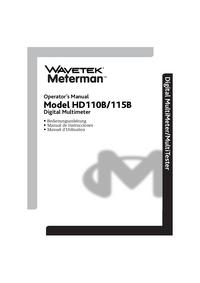 Manuel de l'utilisateur Wavetek HD115B