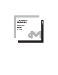 User Manual Wavetek RF241