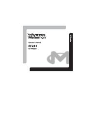 Manual do Usuário Wavetek RF241