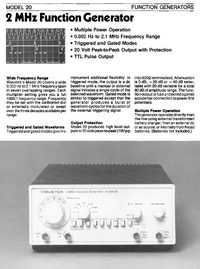 Datenblatt Wavetek 20