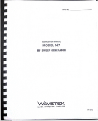Service and User Manual Wavetek 147