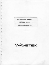 Service- und Bedienungsanleitung Wavetek 3000