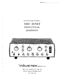 Service and User Manual Wavetek 1060 Series