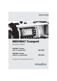 Manuale d'uso Weinmann MEDUMAT Transport WM28300